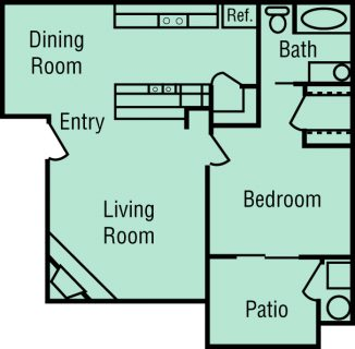1 Bed / 1 Bath / 687 sq ft / Deposit: $400 / Rent: $1,325
